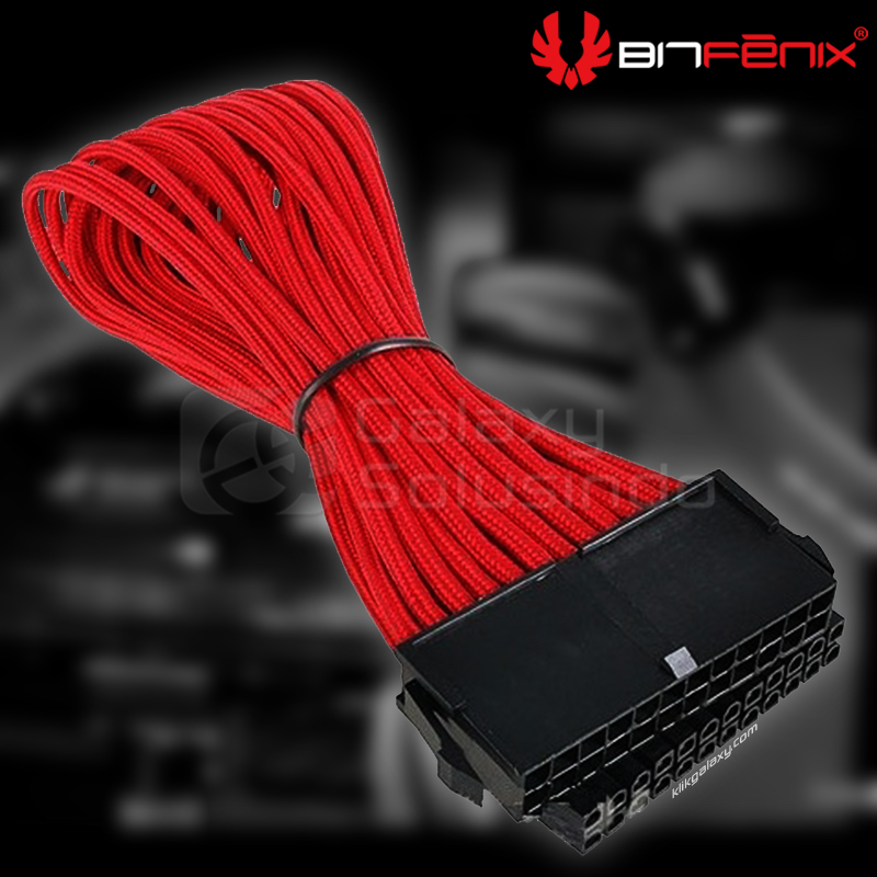 Bitfenix Alchemy ATX 24 pin Red - sleeved cable