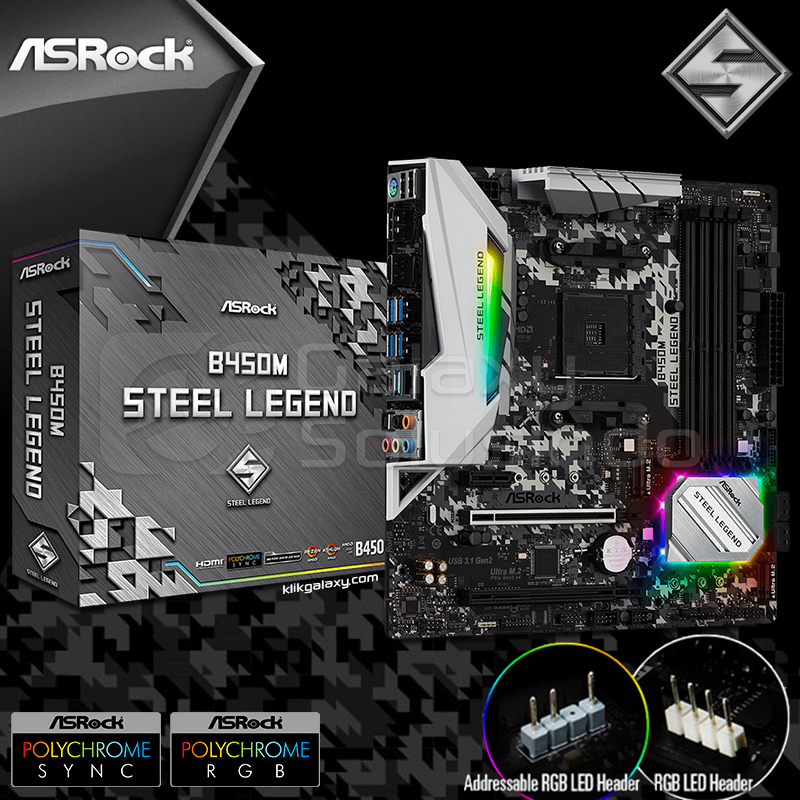 Toko Komputer Online Malang | Jual Asrock B450M Steel Legend murah