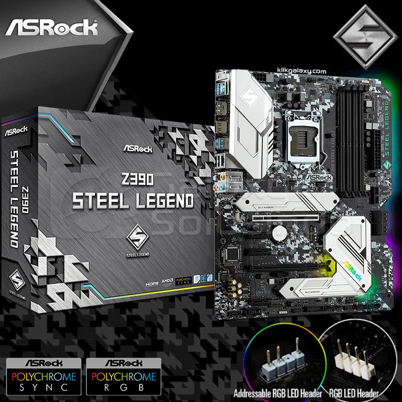 Toko Komputer Online Malang | Jual Asrock Z390 Steel Legend Addressable RGB  support - Coffeelake murah