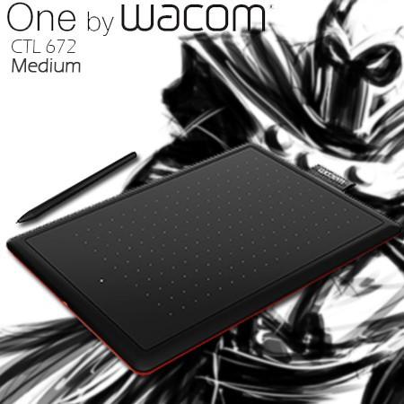 Toko Komputer Online Malang | Jual Wacom ONE Comic Pen and Touch - CTL-672  (medium)