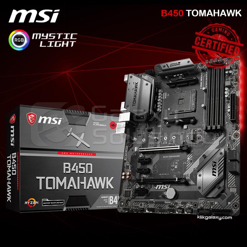 Toko Komputer Online Malang | Jual MSI B450 TOMAHAWK (AM4,B450,DDR4) murah