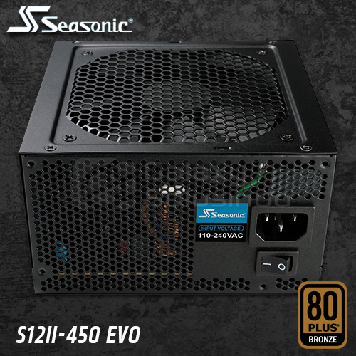 Seasonic S12II EVO 450W 80+ Bronze Certified