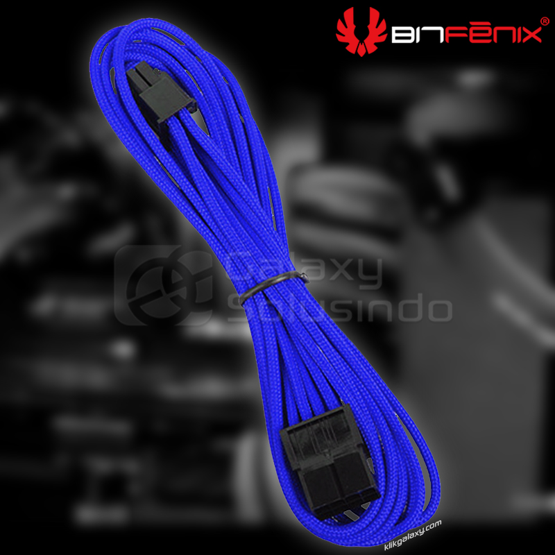 Bitfenix Alchemy ATX 8 pin Blue - sleeved cable