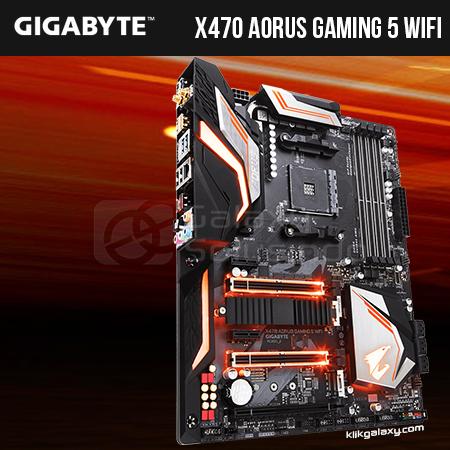 Toko Komputer Online Malang   Jual Gigabyte X470 AORUS Gaming 5 WIFI - AM4  murah