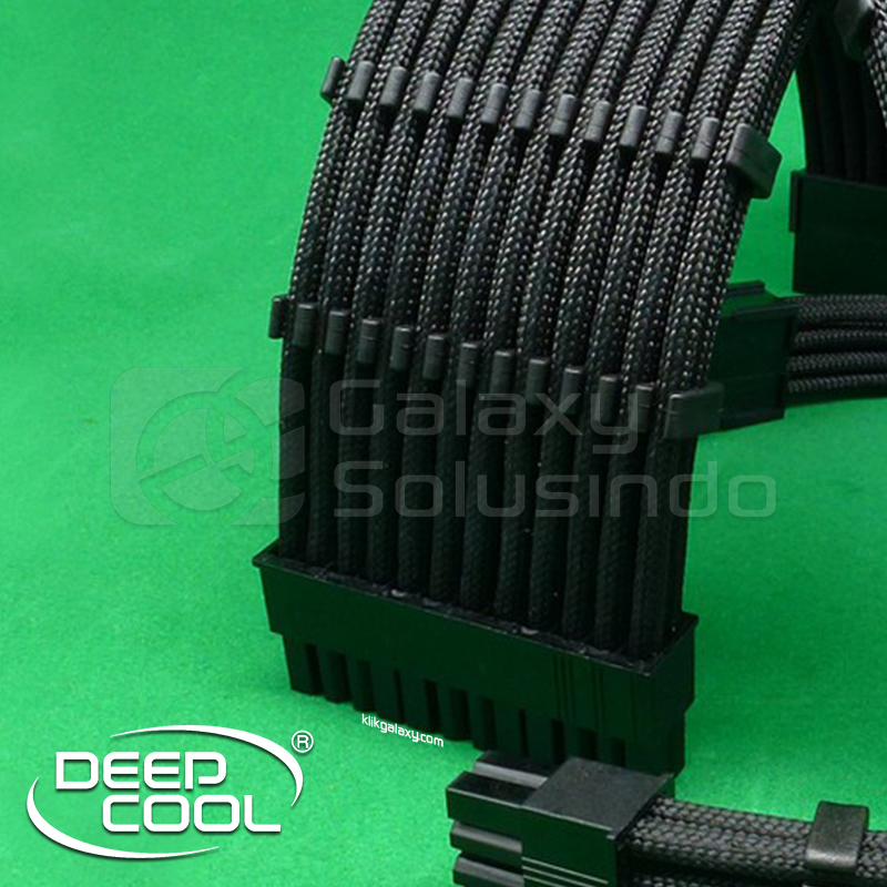 Deepcool ATX 24 Pin Extension Sleeve Cable BLACK + Cable COMB