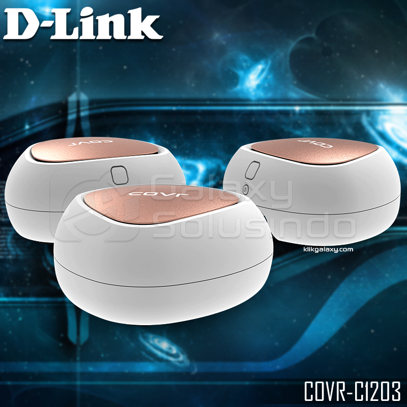 D-LINK COVR‑C1203 AC1200 Dual Band Whole Home Mesh Wi‑Fi System