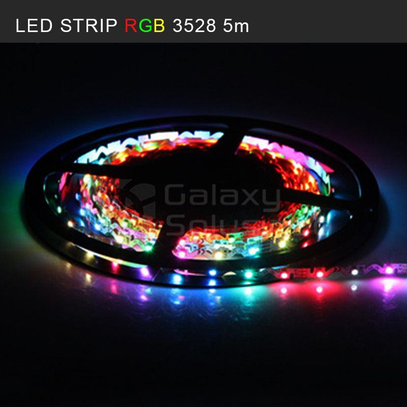 LED Strip RGB 5M + Remote (SMD 3528)