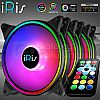 iRis AIR V7 RGB 3Pack (FRAME RING) + CONTROLLER + REMOTE - SYNC Ready