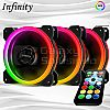 Infinity RGB DOUBLE RING SET Fan- 3 Fan ARGB